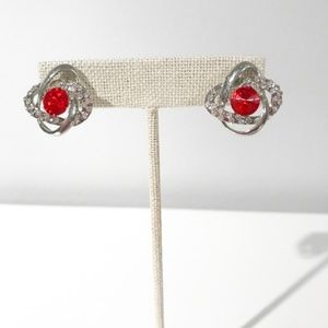 Jewelry - Red Gem Knotted Earrings